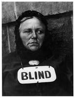 Blind Woman in New York by Strand (1915)