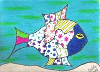 Whimsical Blue Fish