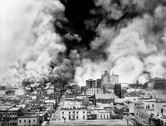 San Francisco on Fire after Quake, 1906