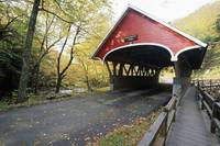 View of a Covered Bridge, Flume Bridge, Lincoln, N