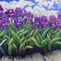 Iris Sky Art Prints & Posters by Rebecca Grantham