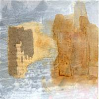 abstract collage in gray and brown