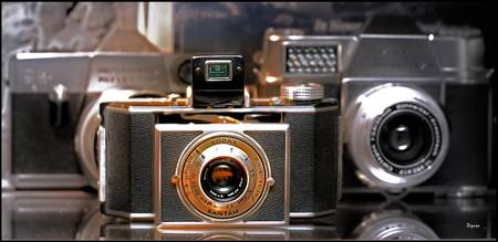 Portrait of a Kodak Bantam Vintage Camera