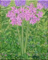 Pink Resurrection Lilies Painting