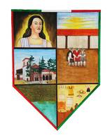 Erongaricuaro town crest, white background