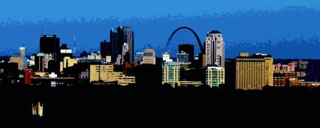 St. Louis Skyline Digital Art