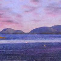 View of Acadia National Park from Sorrento Art Prints & Posters by Mark McKenzie