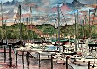 sail boats nautical art prints