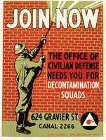Join Now Civil Defense Poster (1943)