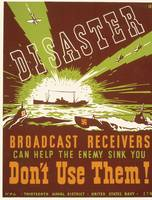Wartime Broadcast Receivers War Poster (1941-43)