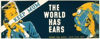 Keep Mum World Has Ears War Poster (1941-43)
