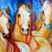 SPIRITS THREE EQUINE ART by MARCIA BALDWIN by Marcia Baldwin