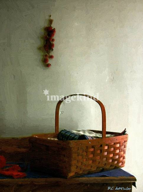 Sewing Basket in Sunlight