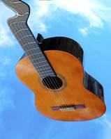 Flying Warped Acoustic Guitar