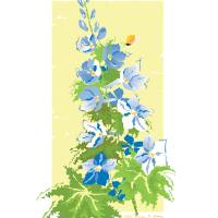 Blue Delphinium Art Prints & Posters by Tina Field Howe