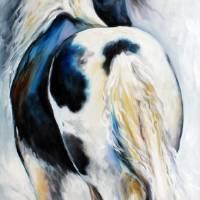 GYPSY VANNER MODERN ABSTRACT 3618 M BALDWIN ORIG O by Marcia Baldwin