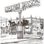 """The North Park Sign San Diego drawing by RD Riccob"" by RDRiccoboni"