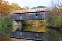 Covered Bridge on Ottauquechee River, Vermont