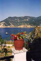 View from the hill, Skopelos Town, Greece