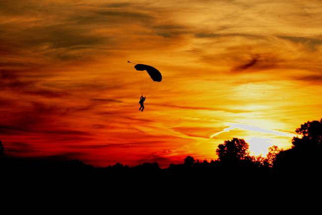 Sunset Skydiver
