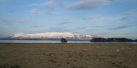 Snowclad Lomond Hills from Kirgate