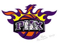 Phoenix Suns Logo Drawing Design