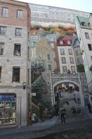 Mural in Old Quebec City