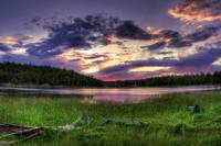 Scholz Lake Sunset, Flagstaff, Arizona (HDR)