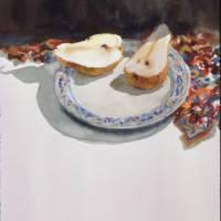 Winter Pear Art Prints & Posters by Nancy J Wostrel