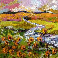 Summer Landscape Provence Oil Painting by Ginette