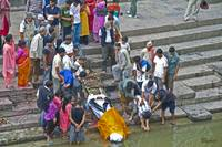 Funeral rites on the Bagmati River, Pashupatinath