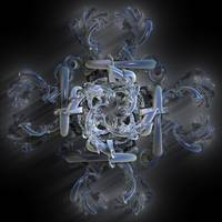 Misty Fractal Cross