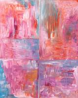 Pink and Blue Abstract
