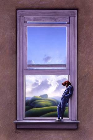 Window of Dreams by artist Jerry LoFaro. Giclee prints, art prints, surrealism; from an original illustration