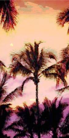 Palms water color