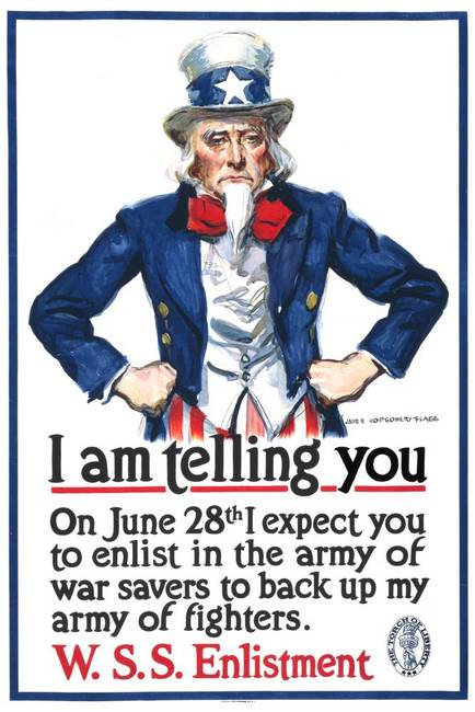 "Uncle Sam ""I'm telling you . . ."""