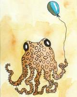 Cephalopod with Balloon