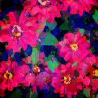 Zinnia Stacked Art Prints & Posters by Leslie Myers