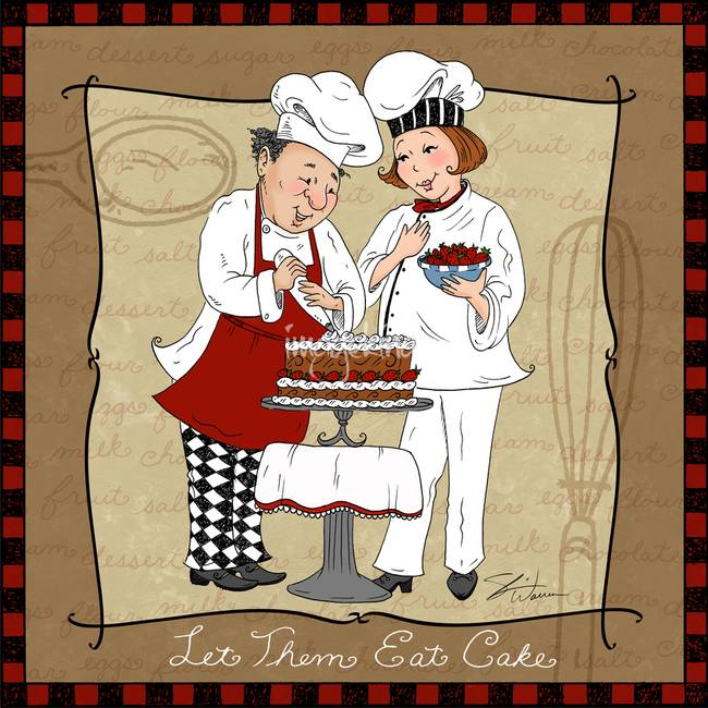 """Frameless Modern Cartoon Chefs Canvas Prints Restaurant: Stunning """"Pastry"""" Drawings And Illustrations For Sale On"""