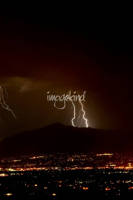 & Double Lightning Bolt Over the Wasatch Mountains by jaredjb