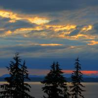 """Bellingham Bay: Clouds on Fire"" by honuphoto"