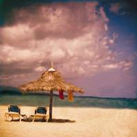 Tiki with Towels by Joe Gemignani