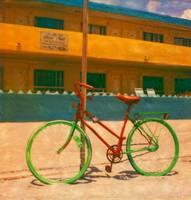 Bike on Beach by Joe Gemignani