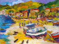 Vacationing On The Italian Riviera Oil Painting