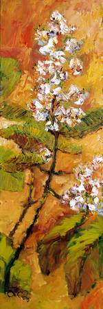 Chestnut Flowers Oil Painting by Ginette Callaway