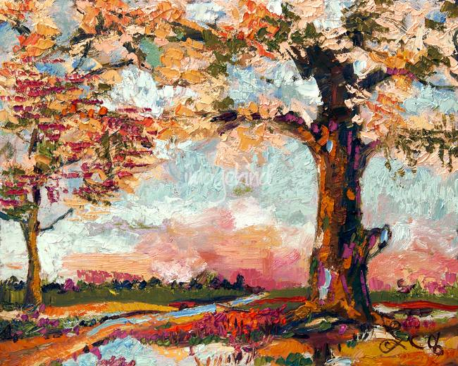 Autumn Impression Oil Painting by Ginette