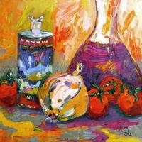 Fixing Marinara Sauce Oil Painting by GInette