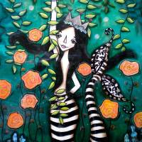 MERMAIDS GARDEN Art Prints & Posters by Kelly Lish