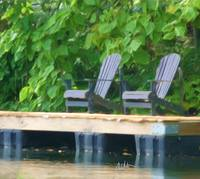 Adirondack Chairs on Dock