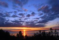 Alaska Anchorage Earthquake Park Sunset Panorama